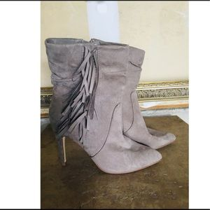 JustFab Posey Ankle Bootie Faux Suede Size 7